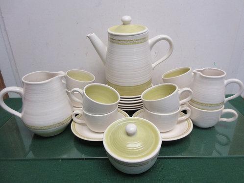Franciscan hacienda gold earthenware 24 pc tea set - includes tea pot