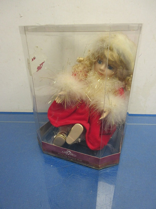 """Gift Gallery wind up musical doll""""Beethoven symphony"""" in box"""