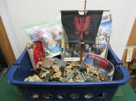 Mega Bloks King Arthur battle action castle set, w/warship,bridge&dragon, in bin