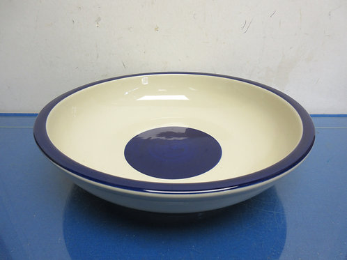 Blue and white pasta bowl