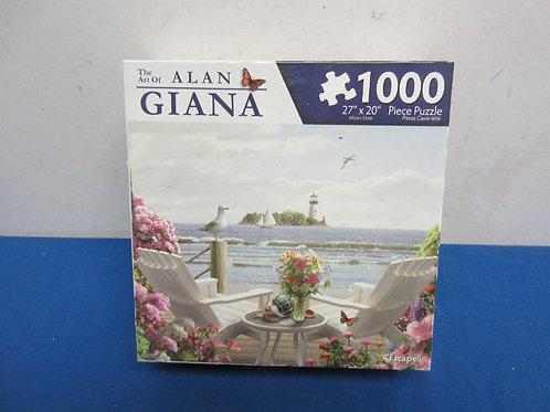 Alan Giana 1000 pc seaside jigsaw puzzle, new sealed