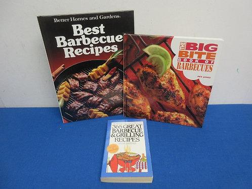 Set of 3 barbeque cookbooks