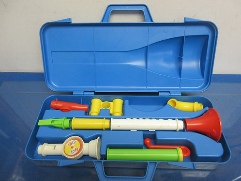 Vintage Fisher Price crazy combo horn set, one piece missing
