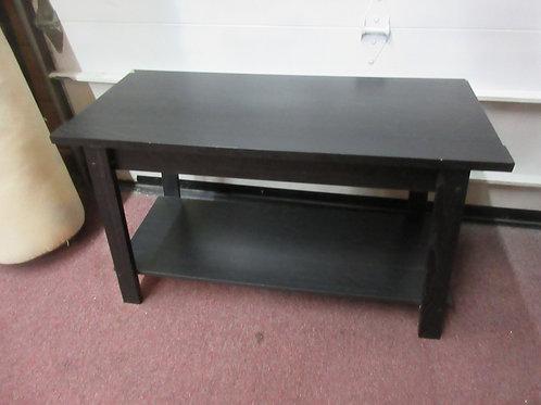 Black simple 2 tier tall rectangular coffee table
