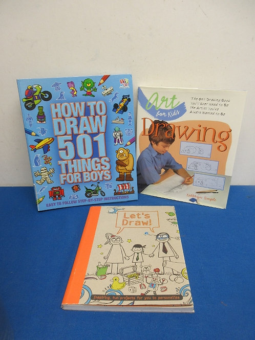 Set of 3 drawing books for young people