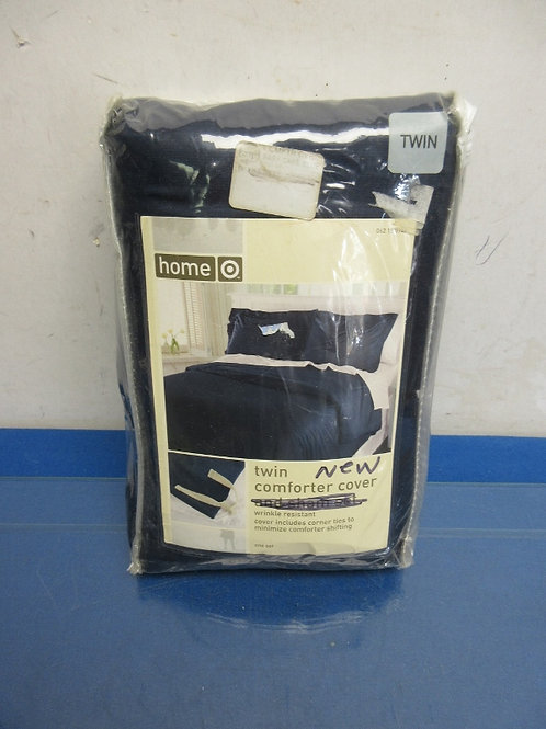 Home-Twin navy comforter cover