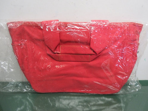 Large red canvas tote bag, New