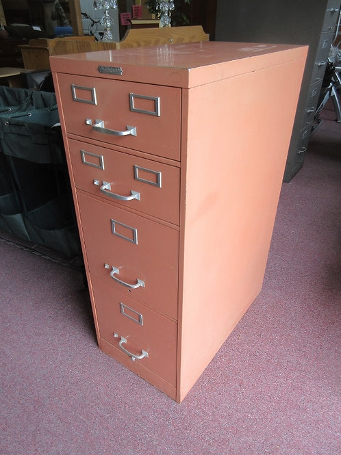 Masterfiler tangerine 4 drawer metal cabinet-2 small drawers & 2 file drawers