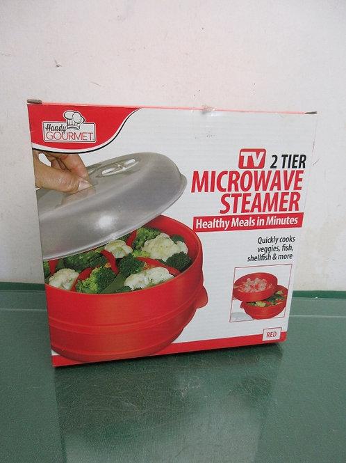 Handy Gourmet 2 tier microwave steamer - new in box