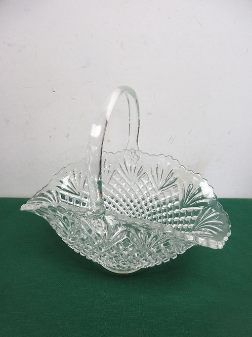 Large glass basket with handle