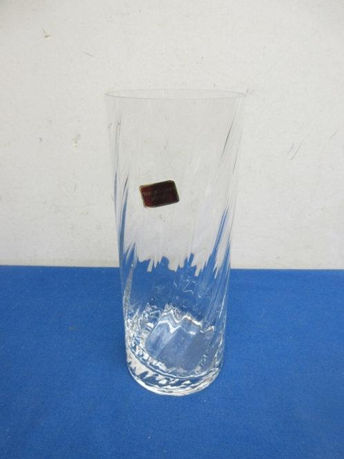 "Lenox leaded crystal cylinder vase, 9"" high"