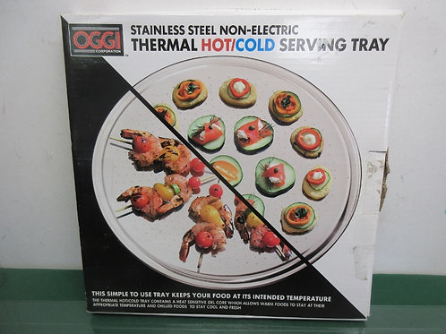 Oggi Stainless Steel non electric thermal hot/cold serving tray