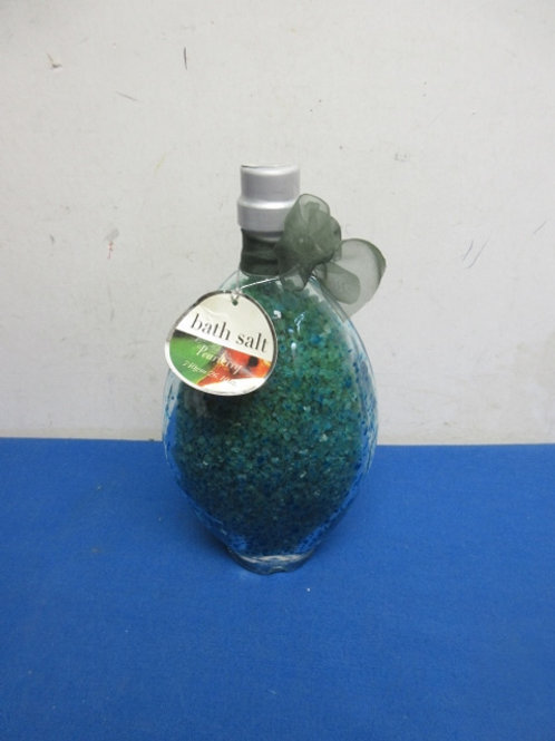 Decorative bottle of pear berry bath salts - new