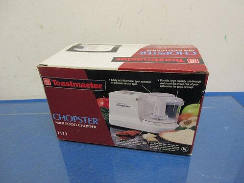 Toastmaster chopster, mini food chopper