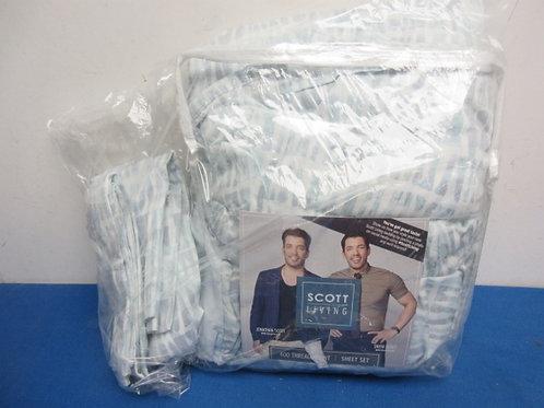 Scott Living Hygro cotton tencel 400TC sheet set w/flex fit, Queen,New