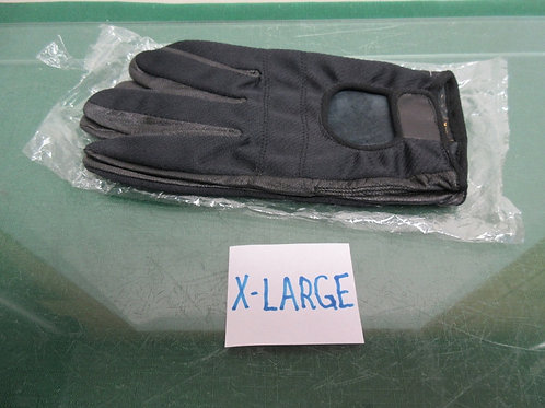 Pair of XLarge black driving gloves, New