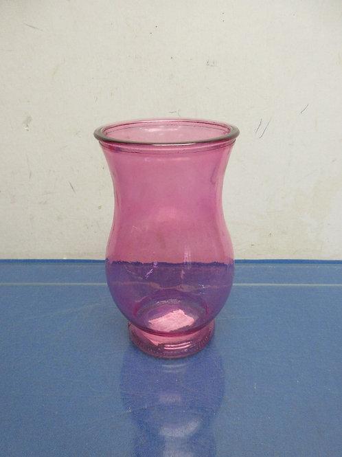 """Pink glase vase 7""""high"""