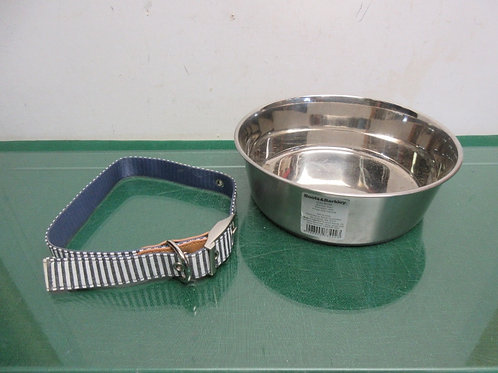 Boots & Barkley stainless dog bowl and Xlarge dog collar