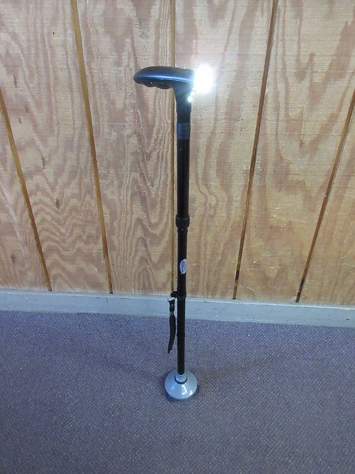 """Black folding Hurry Cane with light in handle-34"""""""