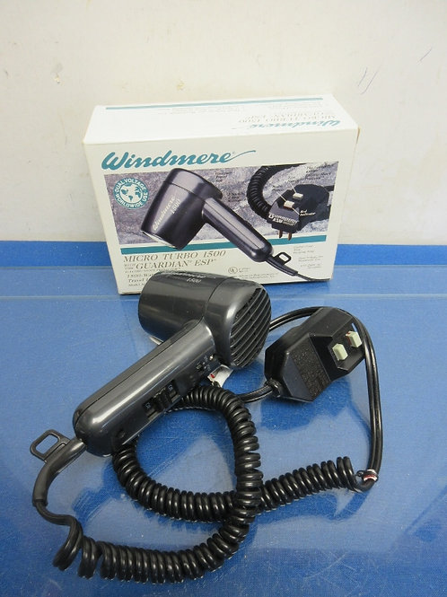 Windmere micro turbo 1500 travel size hair dryer in box