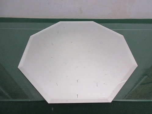 "Octagon beveled mirror vanity tray 12"" diameter"
