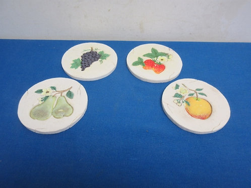 Charterclub set of 4 coasters with fruit design