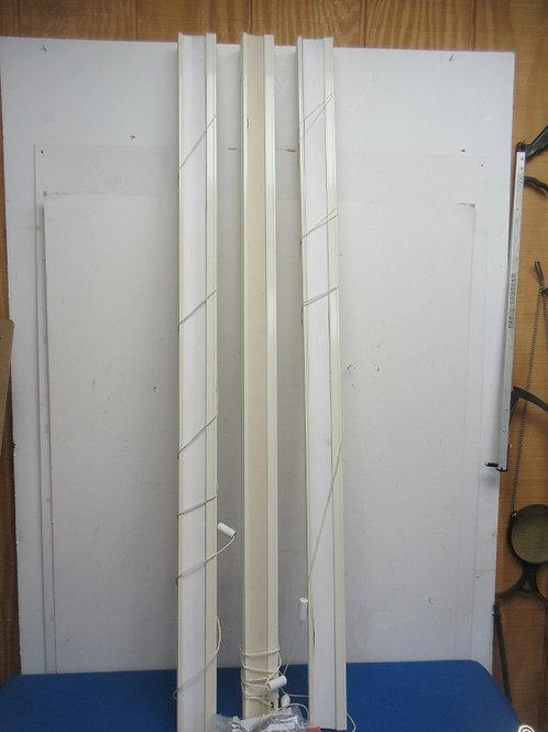 "Set of 3 window blinds w/hardware, 45"" wide"