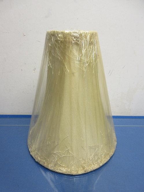 "Tall narrow tan lamp shade 11"" high"
