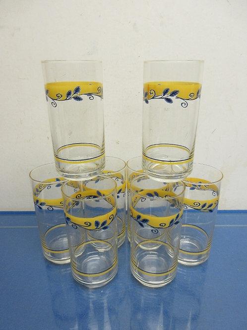 Corelle Casa Flora set of 8 glass tumblers