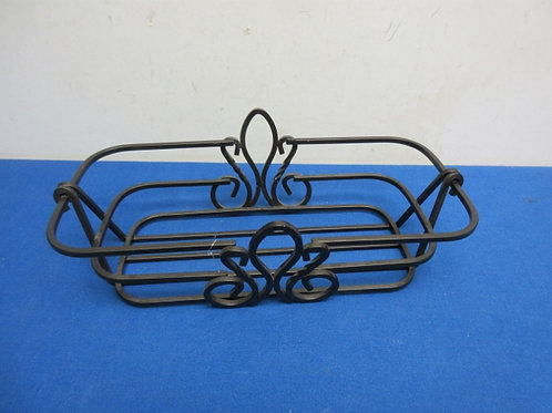 "Black metal rectangular basket,6x12x3""deep"