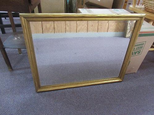 """Gold framed beveled rectangular mirror 20 x 26"""""""