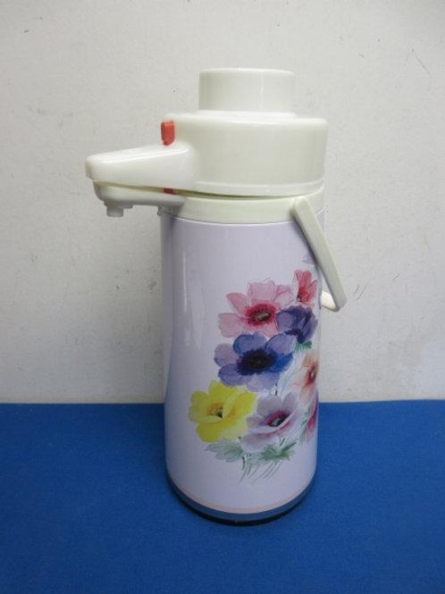 Insulated drink dispenser, floral design
