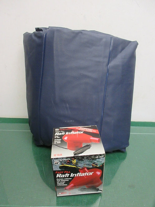 Full size camping mattress with inflater that plugs into car lighter, never used