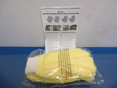 Microfiber dusting gloves 4pc set-Brand New