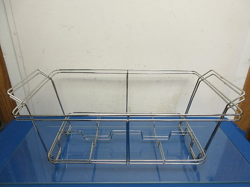Set of 2 silver metal chafing pan holders