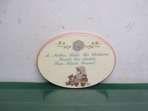 """Small oval plaque """"A mother holds...""""6x8"""""""