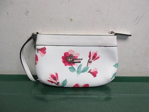 Guess white & floral design small purse