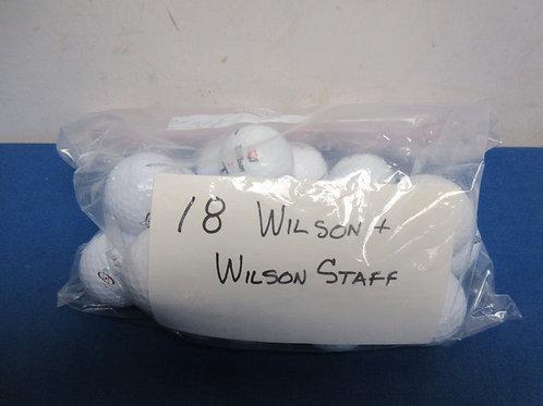 Set of 18 Wilson & Wilson staff golf balls