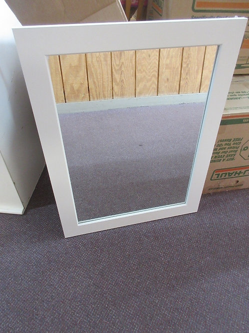 White framed wall mirror - 21x27