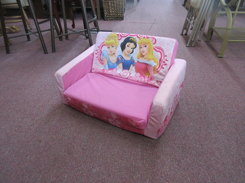 Disney princess pink childs fold out couch