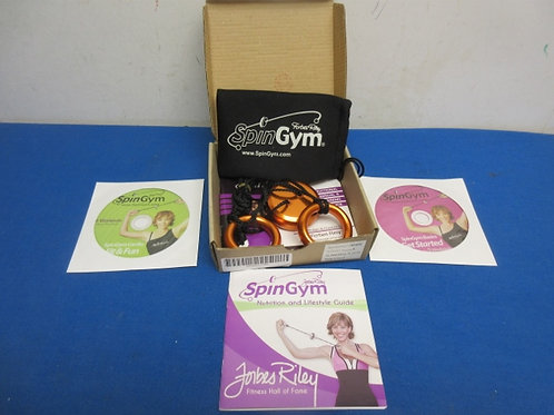 Spin Gym exerciser with 2 dvd's