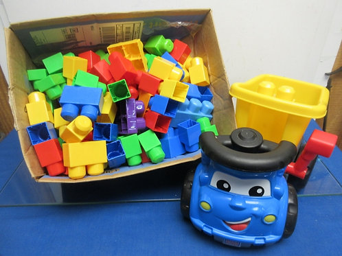 Mega Bloks truck and block building set - over 120 pieces