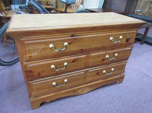 """Low 5 drawer chest of drawers with formica top 18x44x30""""high"""