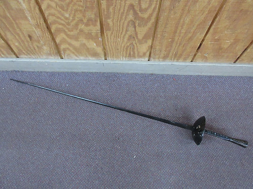"Black blunt end fencing sword 43"" long"