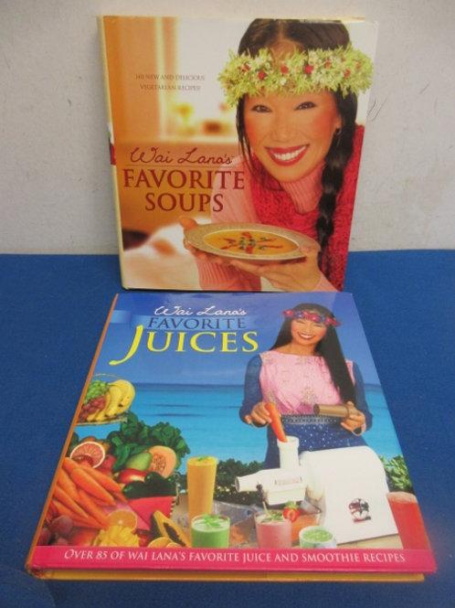Pair of Wai Lana's vegitarian books - favorite soups & favorite juices & smoothi