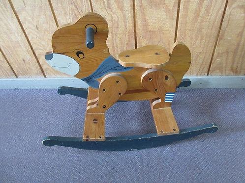 Handmade bear shaped wood rocker
