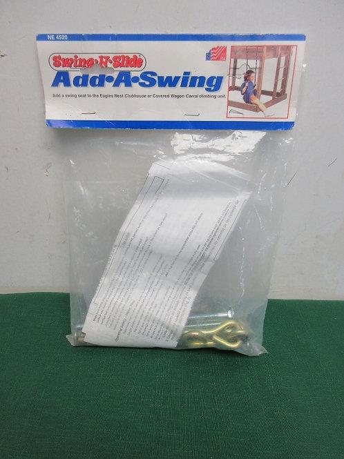 Swing-n-slide add-a-swing - only includes hardware (not swing seat)