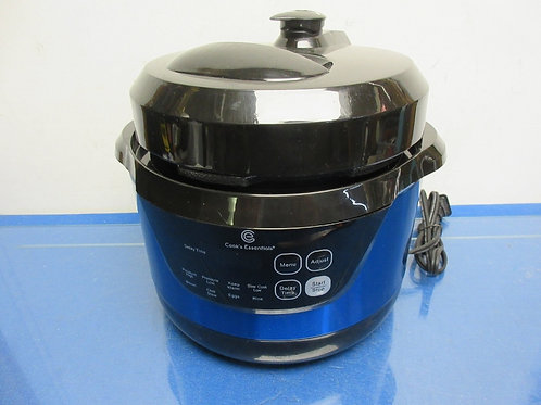 Cook's Essentials 2qt digital stainless steel blue pressure cooker - rice, eggs