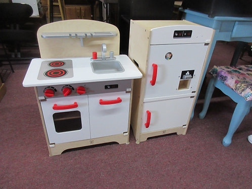 Hape wooden pretend stove and fridge