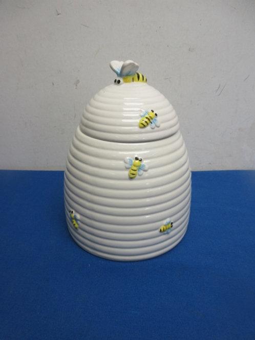"Bumble bee cookie jar, 9"" tall"